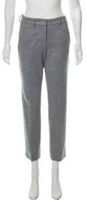 Derek Lam Wool Blend Mid-Rise Straight-Leg Pants