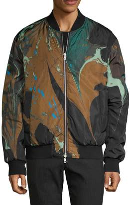 Dries Van Noten Printed Reversible Bomber Jacket