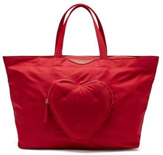 Anya Hindmarch Chubby Heart Tote Bag - Womens - Red