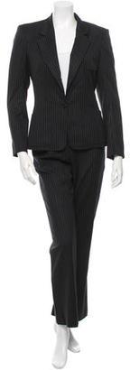 Yves Saint Laurent Wool Two-Piece Pantsuit $275 thestylecure.com