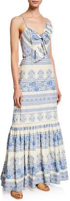 Johanna Ortiz Deep Waters Tapestry-Print Cami Dress