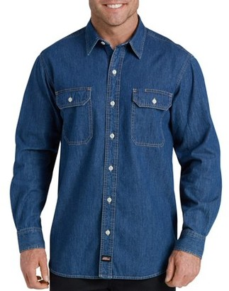 Dickies Men's Heavy Weight Long Sleeve Denim Shirt