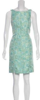 Carmen Marc Valvo Floral Patterned Sleeveless Dress