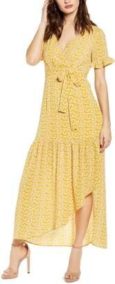 One Clothing Faux Wrap Maxi Dress