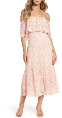 Women's Bb Dakota Katie Lace Midi Dress $130 thestylecure.com