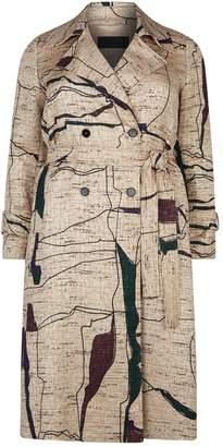 Marina Rinaldi Jacquard Trench Coat