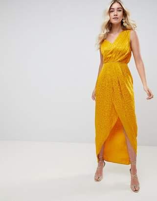 Asos Design DESIGN soft jacquard maxi dress with cut out
