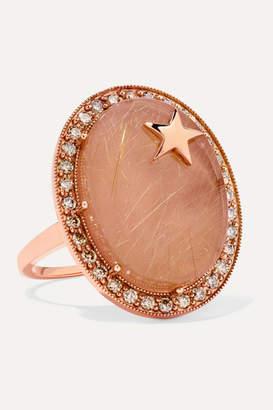 Andrea Fohrman Zenith 18-karat Rose Gold, Quartz And Diamond Ring - 6