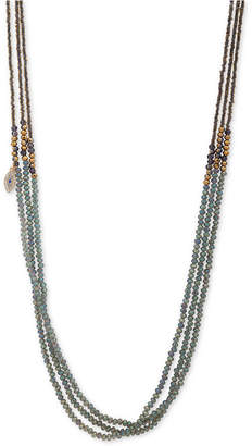 "lonna & lilly Gold-Tone Pave Evil Eye Beaded 36"" Strand Necklace"
