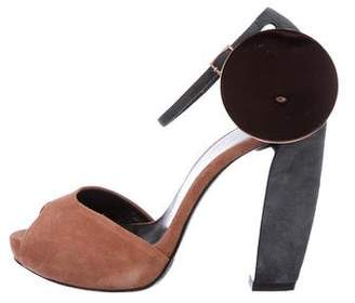 Pierre Hardy Suede Ankle Strap Sandals