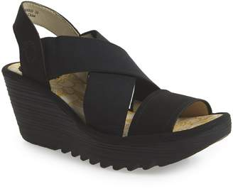 Fly London Yaji Cross Wedge Sandal