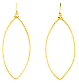 Gurhan 22K Marquise Hook Drop Earrings