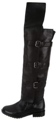Tibi Leather Over-The-Knee Boots
