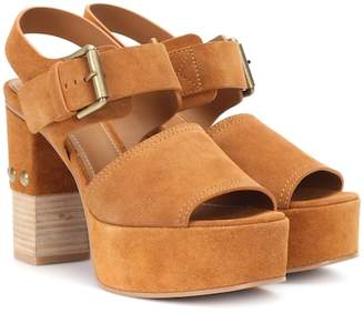 See by Chloe Suede plateau sandals