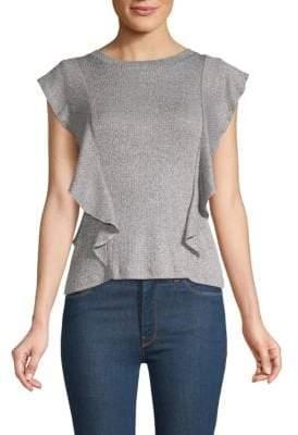 BB Dakota Steller Heathered Ruffle T-Shirt