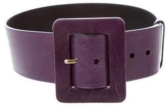 Saint Laurent Leather Wide Belt