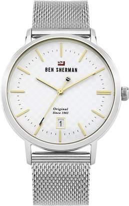 Ben Sherman Men's 'The Dylan Heritage' Quartz Stainless Steel Casual Watch, Color:Silver-Toned (Model: WBS103SM)