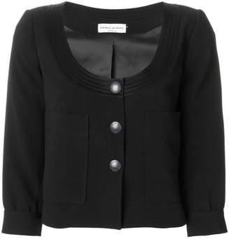 Sonia Rykiel scoop neck cropped jacket