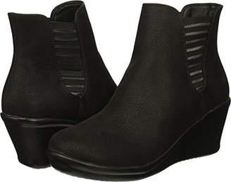Skechers Women's Rumblers-Beam ME UP-Wedge Heeled Dressy Casual Striped Gore Chelsea Boot