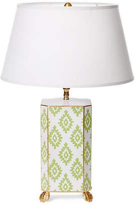Dana Gibson Block Table Lamp - Green