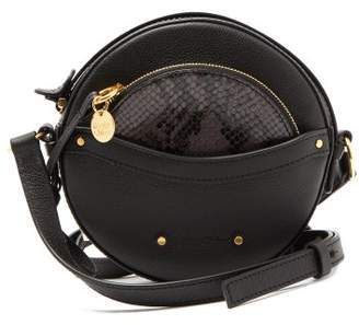 See by Chloe Rosy Circular Mini Leather Cross Body Bag - Womens - Black Multi
