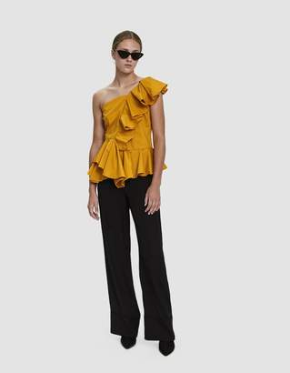 Farrow Campbell Ruffle One Shoulder Top