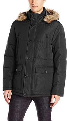 Buffalo David Bitton by David Bitton Men's Polyester Zip-Front Parka with Hood