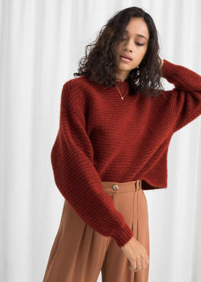 And other stories Cropped Mock Neck Sweater