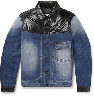 Moncler Genius 7 Fragment Shady Padded Shell-Panelled Denim Down Jacket