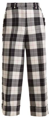 Thom Browne Sack Wide Leg Trousers - Womens - Navy White