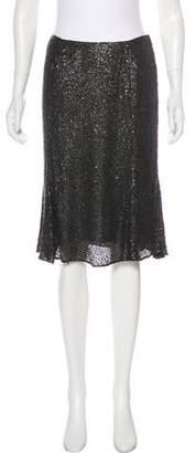 Naeem Khan Sequin Knee-Length Skirt