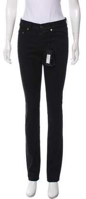 Saint Laurent Mid-Rise Straight-leg Jeans w/ Tags