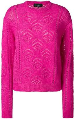 Rochas embroidered fitted sweater