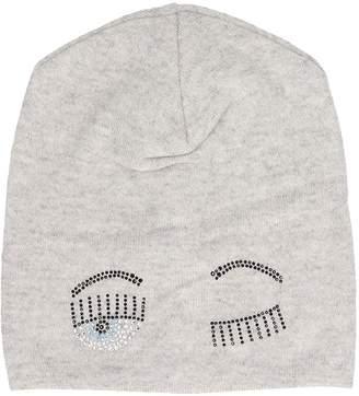 Chiara Ferragni Gray Wool Hat