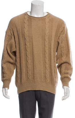 Luciano Barbera Wool Cable Knit Sweater