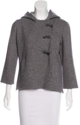 Oscar de la Renta Hooded Virgin Wool Jacket
