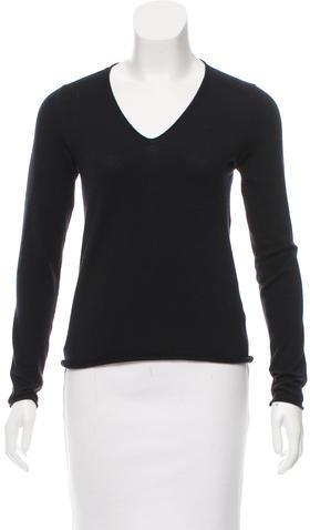 Jil SanderJil Sander V-Neck Long Sleeve Sweater