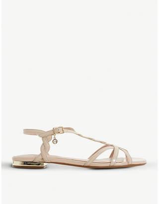 Dune Newark strappy metallic sandals