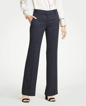 Ann Taylor The Petite Madison Trouser In Speckled Twill - Curvy Fit