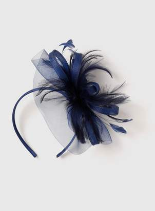 Dorothy Perkins Womens Navy Feather Mesh Fascinator