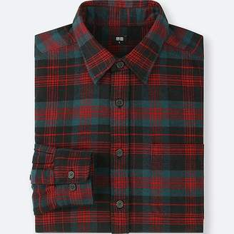 Uniqlo Men's Flannel Checked Long-sleeve Shirt