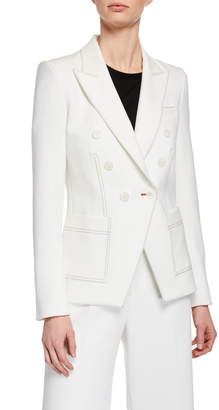 Veronica Beard Cosmo Double-Breasted Dickey Jacket