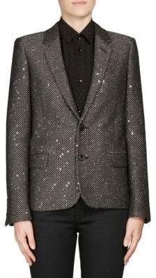 Saint Laurent Paillette Two-Button Jacket