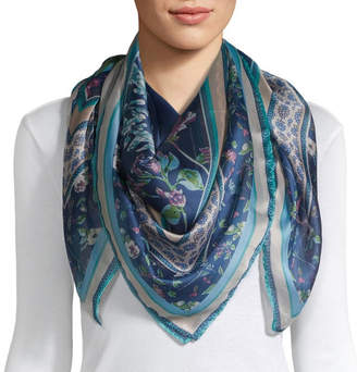 Liz Claiborne Poly Stain Square Animal Scarf
