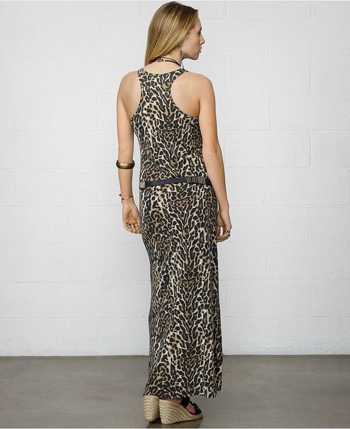 Denim & Supply Ralph Lauren Animal-Print Racerback Maxi Tank Dress