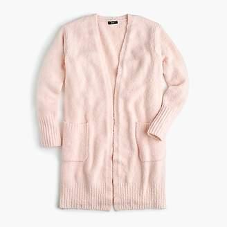 J.Crew Bouclé long cardigan sweater