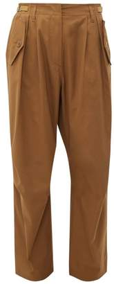 Givenchy High Rise Cotton Cargo Trousers - Womens - Brown