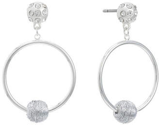 Liz Claiborne Clear 54mm Round Hoop Earrings