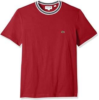 Lacoste Men's Short Sleeve Semi Fancy Jersey Regular Fit T-Shirt