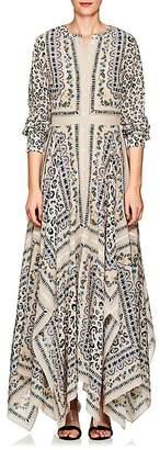 Altuzarra Women's Tamourine Floral- & Leopard-Print Silk Dress